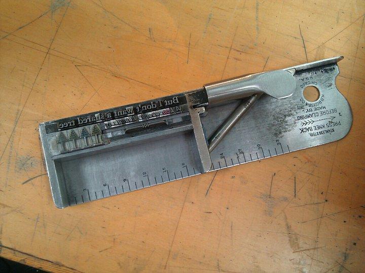 Composing stick letterpress printing